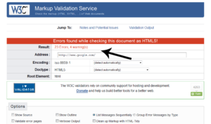 W3C-Errors